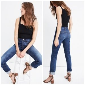 Madewell The Slim Boy Jean Raw Hem Edition Jeans
